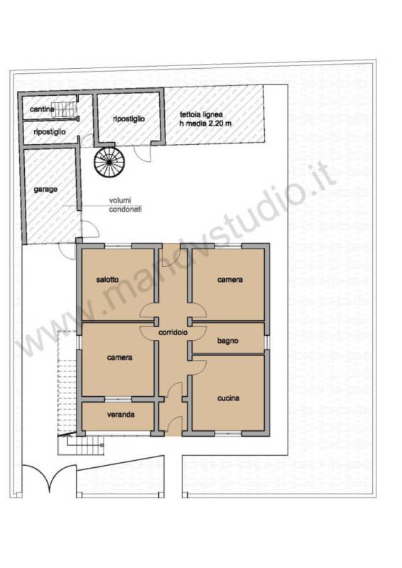 Ristrutturazione di un edificio residenziale parte 1 for 1 piano garage con abitazione