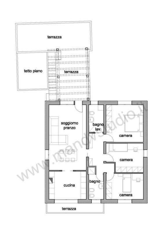 Ristrutturare casa parte 3 progettazione degli - Pianta casa bifamiliare ...