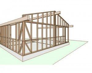Parete in legno a telaio com fatta for Voglio costruire una piccola casa